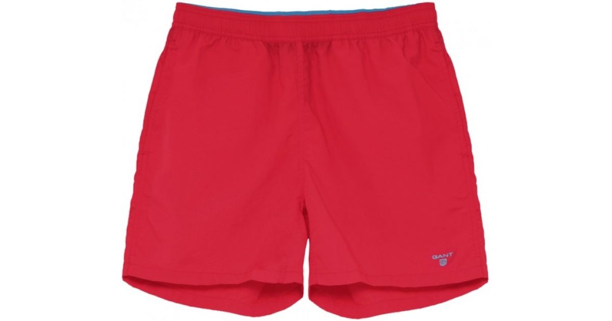 2e8949c934 GANT Classic Swim Shorts in Red for Men - Lyst