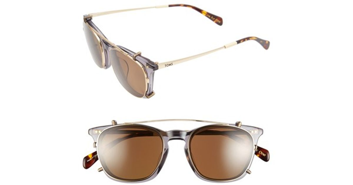 276ec746a TOMS 'maxwell' 48mm Sunglasses in Gray - Lyst