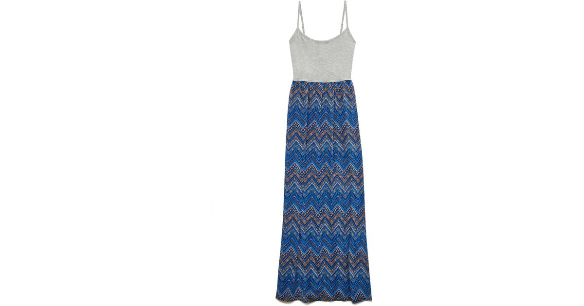 Forever 21 Tribal Print Maxi Dress in Blue | Lyst