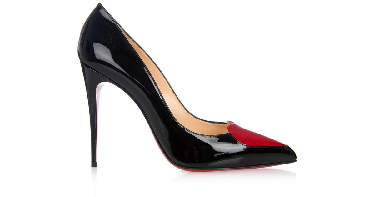 best service 85058 c0627 Christian Louboutin Red Cora Heart Patent-Leather Heel Pumps