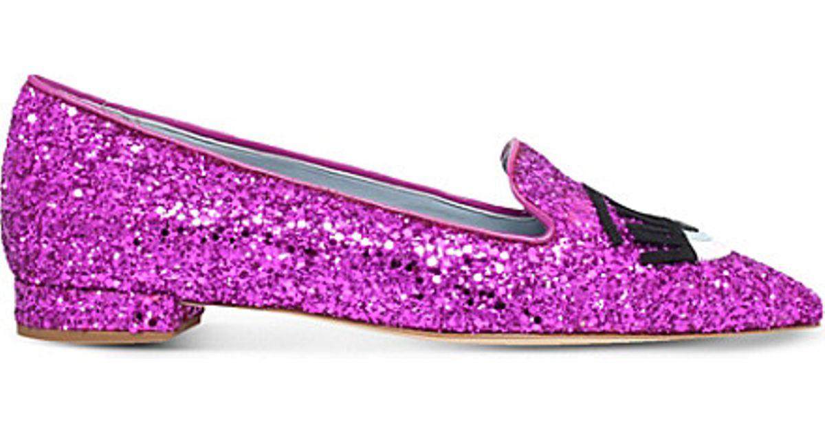 Pink glittered ballerinas Chiara Ferragni HSVdnDh
