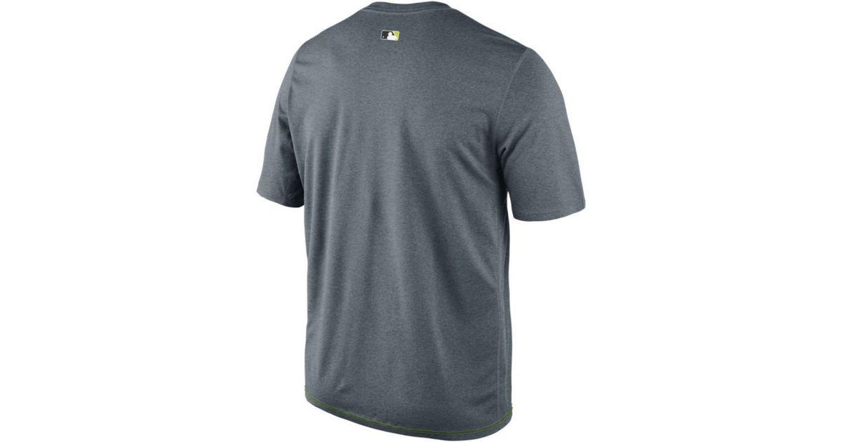 f16c2fdc7 Lyst - Nike Men s Los Angeles Dodgers Dri-fit Legend T-shirt in Gray for Men
