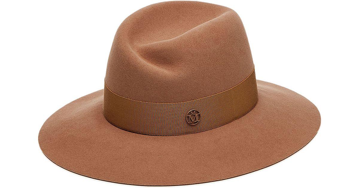 Lyst maison michel virginie rabbit felt hat camel in brown for men jpg  1200x630 Camel hat 7381850f7da1