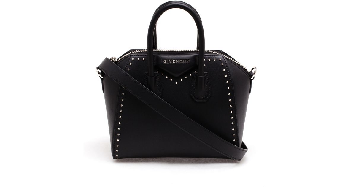 a57725a9f1 Givenchy Studded Mini Antigona Bag in Black - Lyst