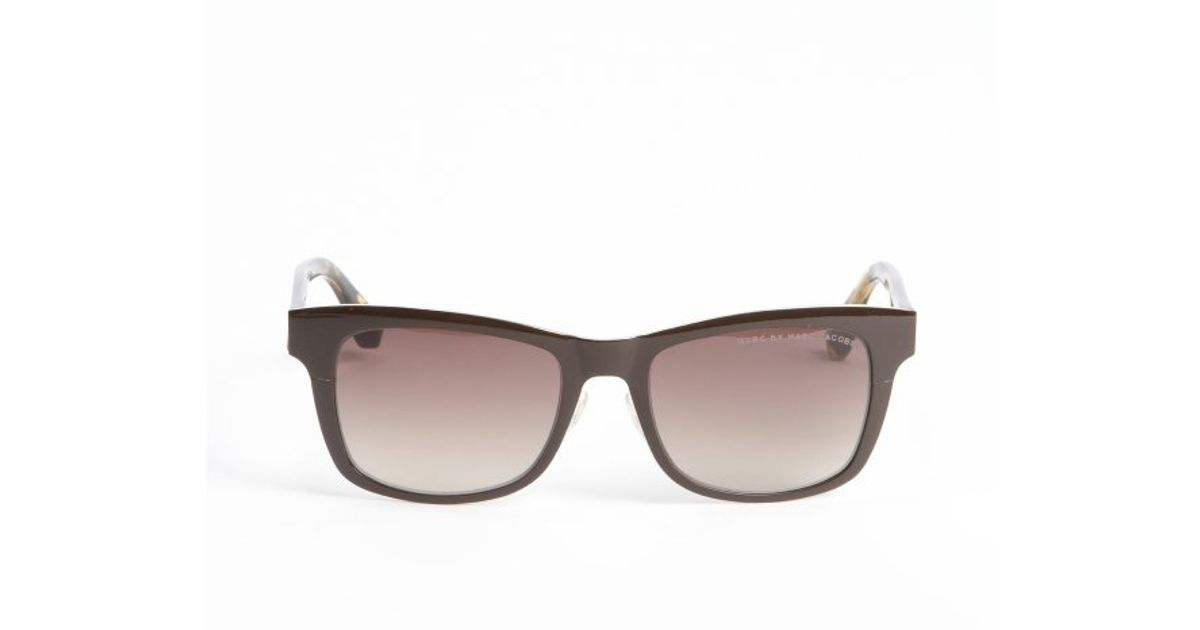 Tortoise Print Sunglasses  marc by marc jacobs brown and tortoise print metal and acrylic
