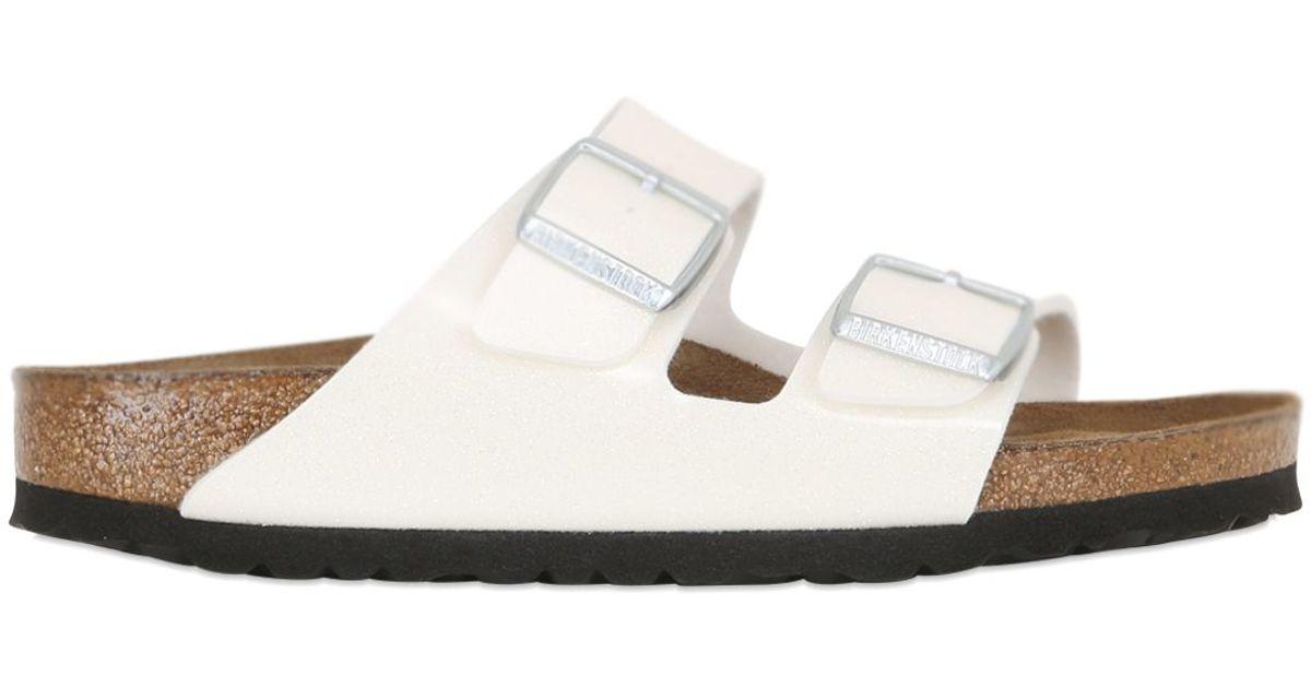 3f1ad08b9f44 Lyst - Birkenstock Arizona Magic Galaxy Slide Sandals in White