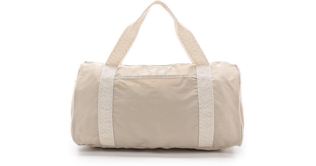 bensimon color duffel bag bright blue in natural lyst - Color Bag Bensimon