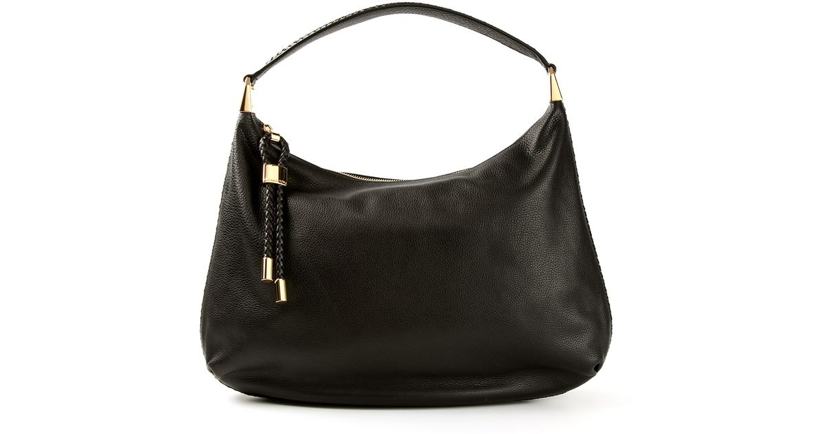 2f1552c6da7 Michael Kors Skorpios Hobo Shoulder Bag in Black - Lyst