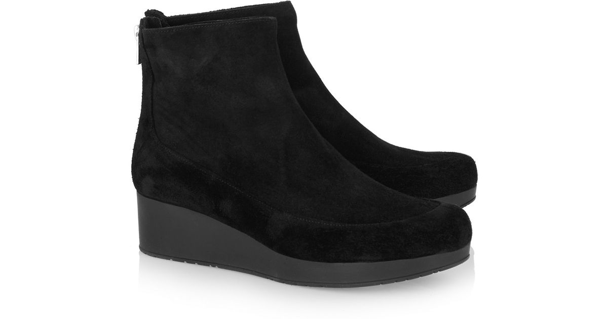 Robert Clergerie Clergerie Paris Suede Wedge Ankle Boots new cheap online LBCPX