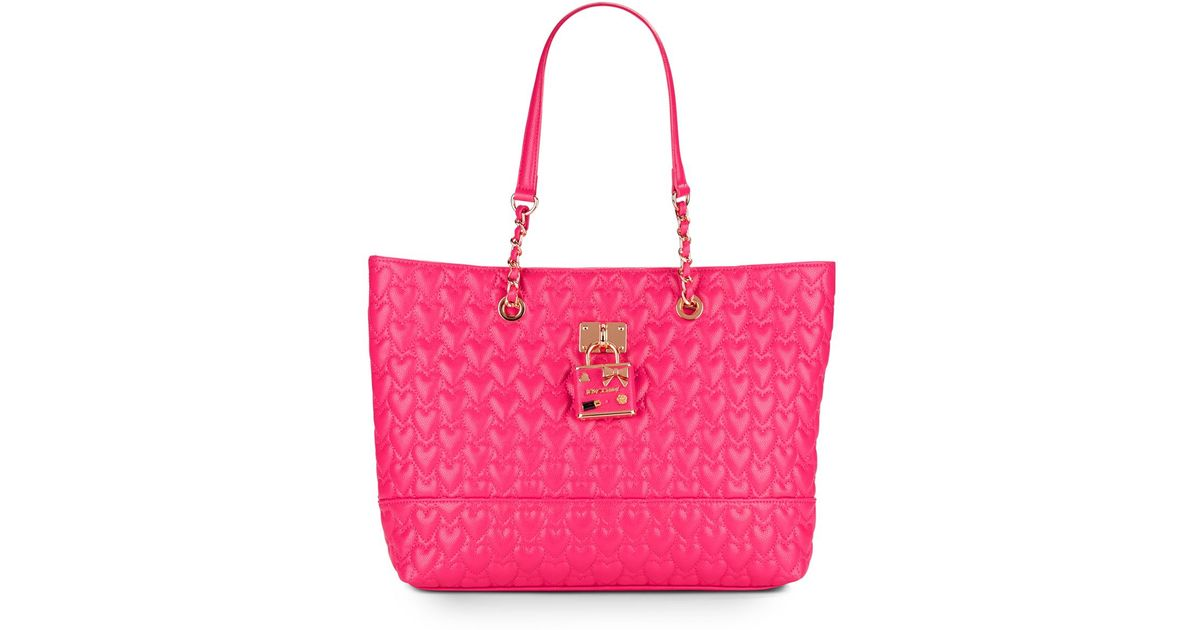 Betsey johnson Be My Baby Quilted Heart Tote in Purple