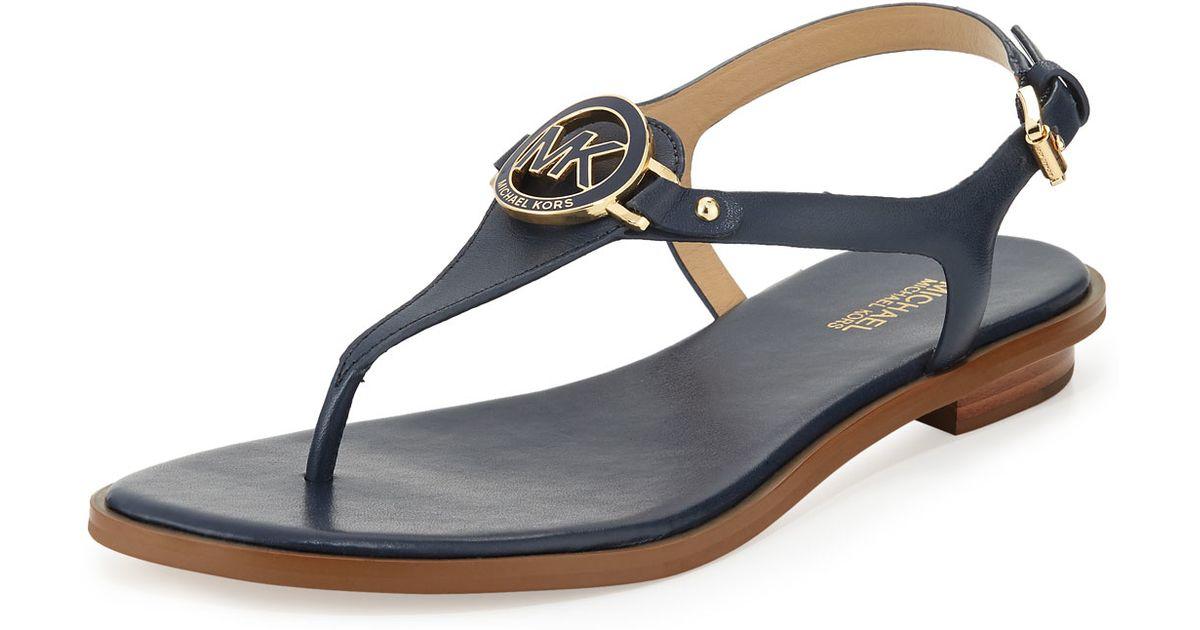 Lee Leather Flat Thong Sandal Black