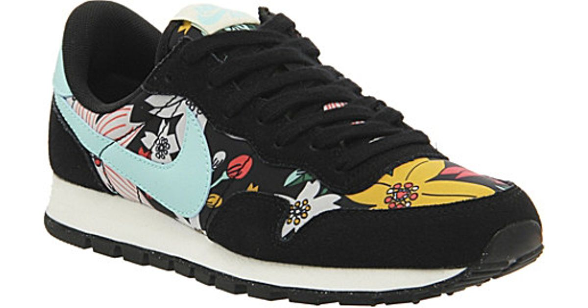 184f84be496ce ... get nike air pegasus 83 aloha suede trainers for women in black lyst  48201 ed71c