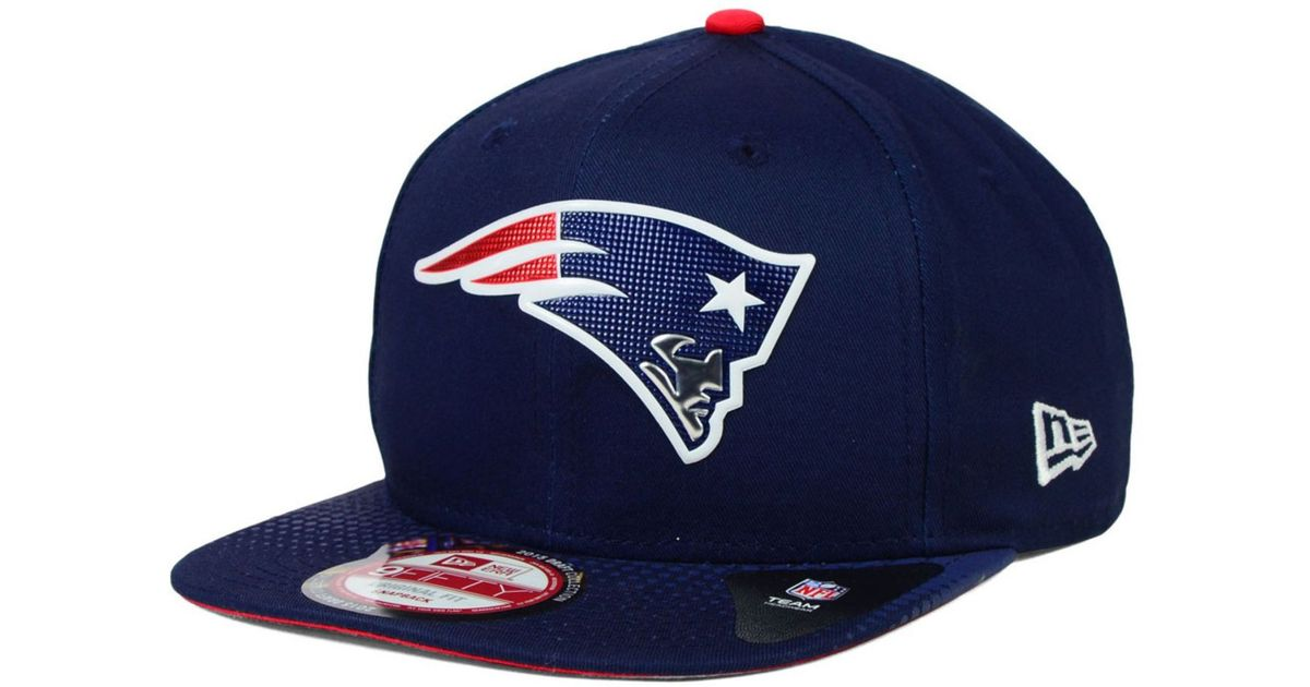 1e5504187db ... shop lyst ktz new england patriots 2015 nfl draft 9fifty snapback cap  in blue for men
