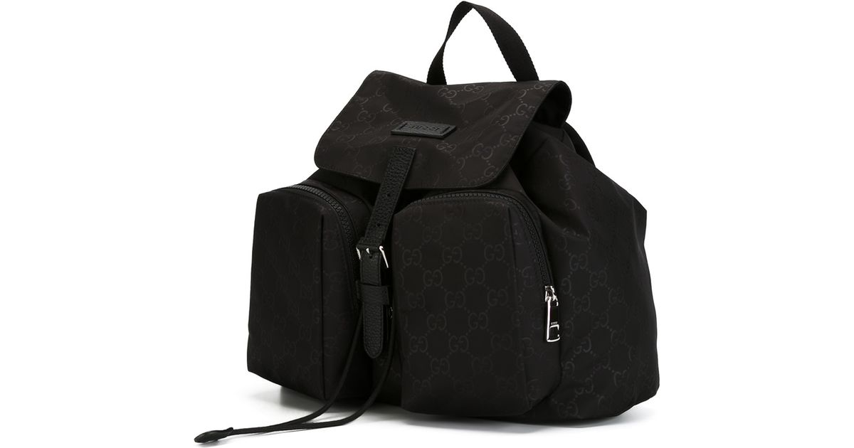 Lyst - Gucci Nylon Backpack in Black f4033fee312ce