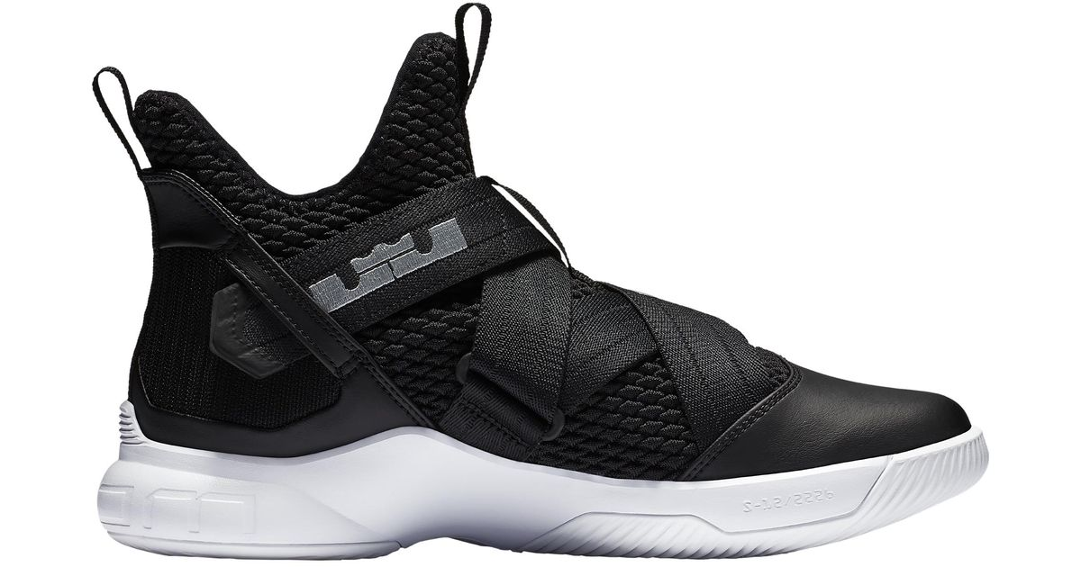 release date 4649d a3948 Nike - Black Lebron Soldier Xii Basketball Shoes for Men - Lyst