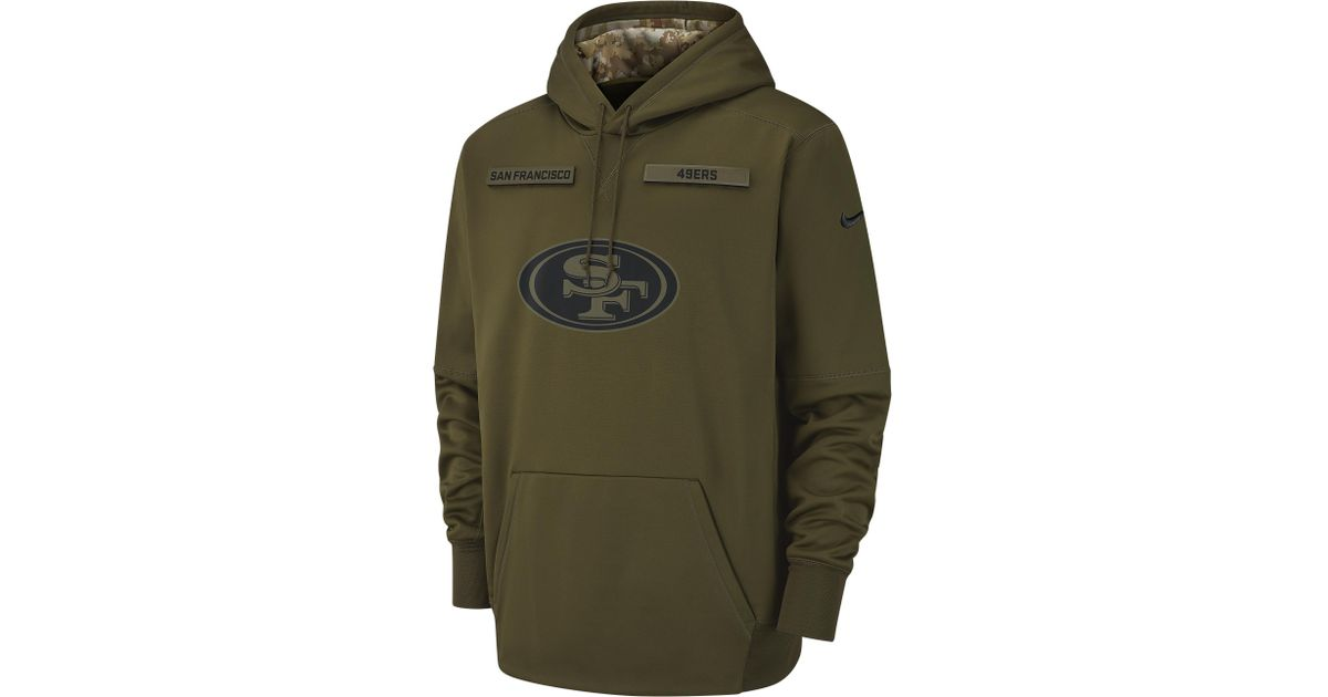 best loved 76072 942e0 Nike Green San Francisco 49ers Nfl Salute To Service Therma Po Hoodie for  men