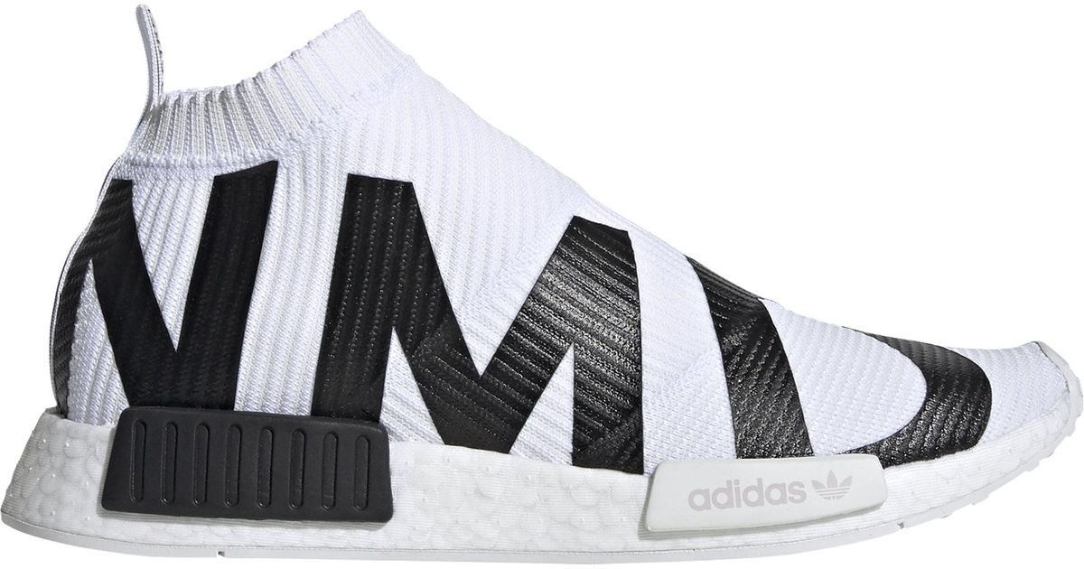 Adidas Originals White Nmd Sock Running Shoes for men