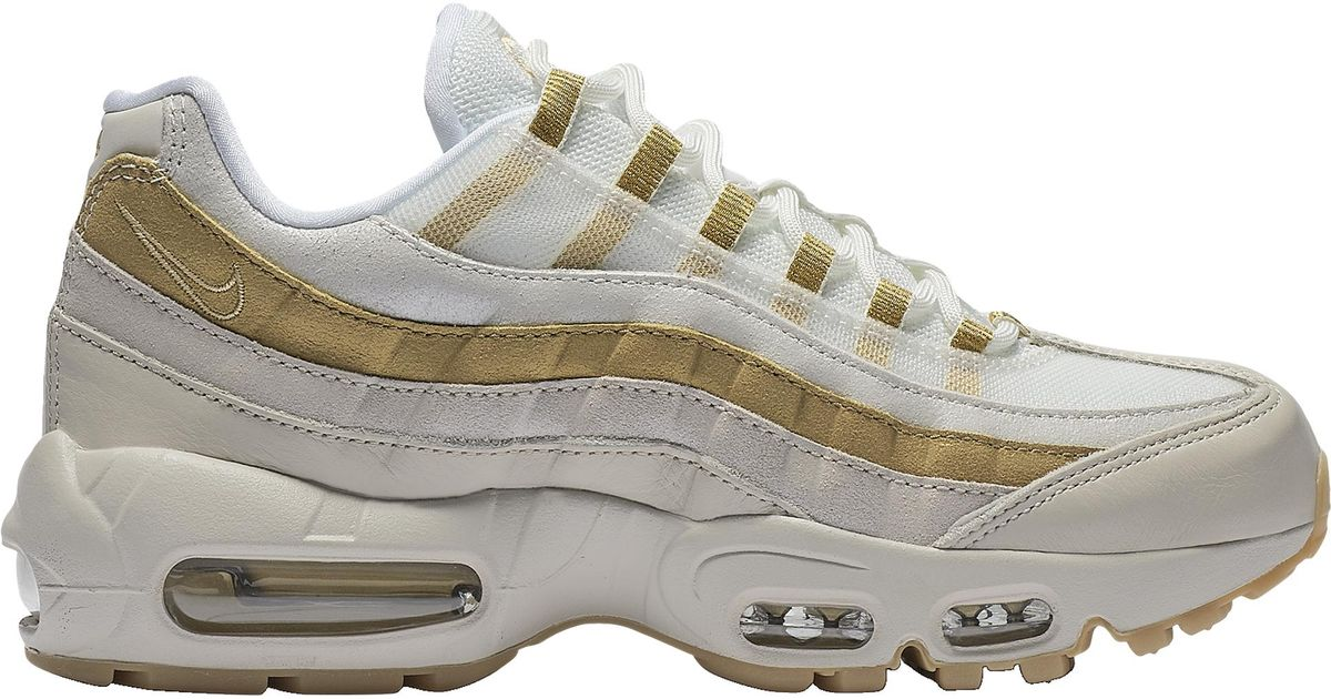 Nike Womens Air Max 95 Sneakers BlackMetallic Golden Metallic Silvern