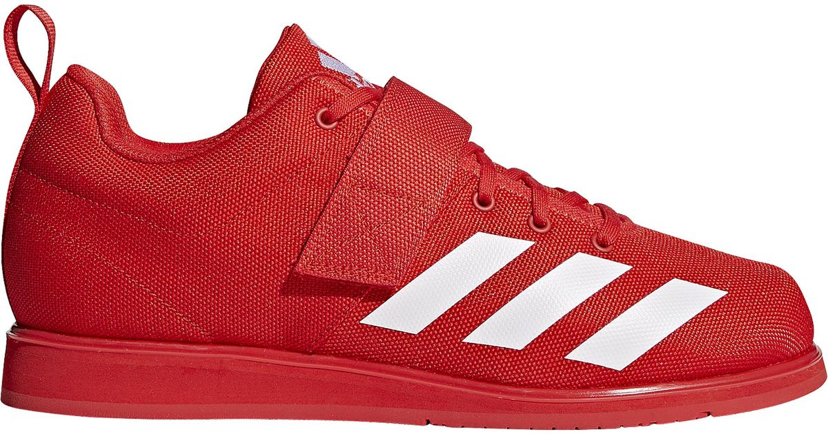 Adidas Red Powerlift 4 Weightlifting Shoes for men