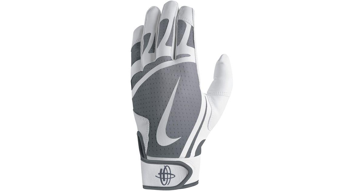 Nike Gray Huarache Edge Batting Gloves for men