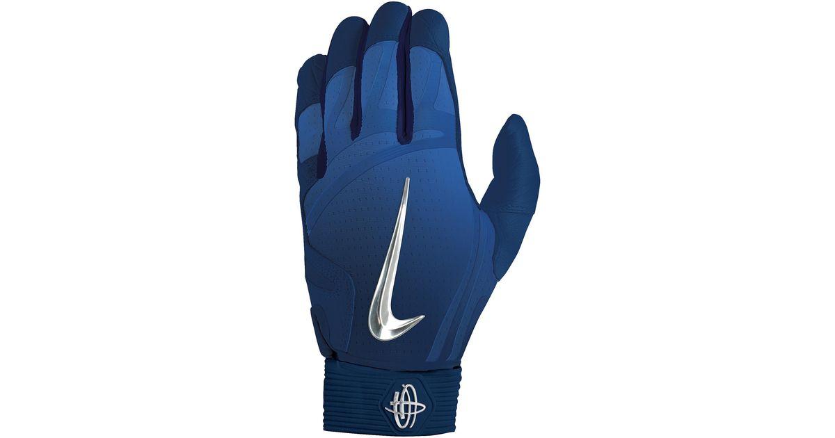 Nike Blue Huarache Elite Batting Gloves for men