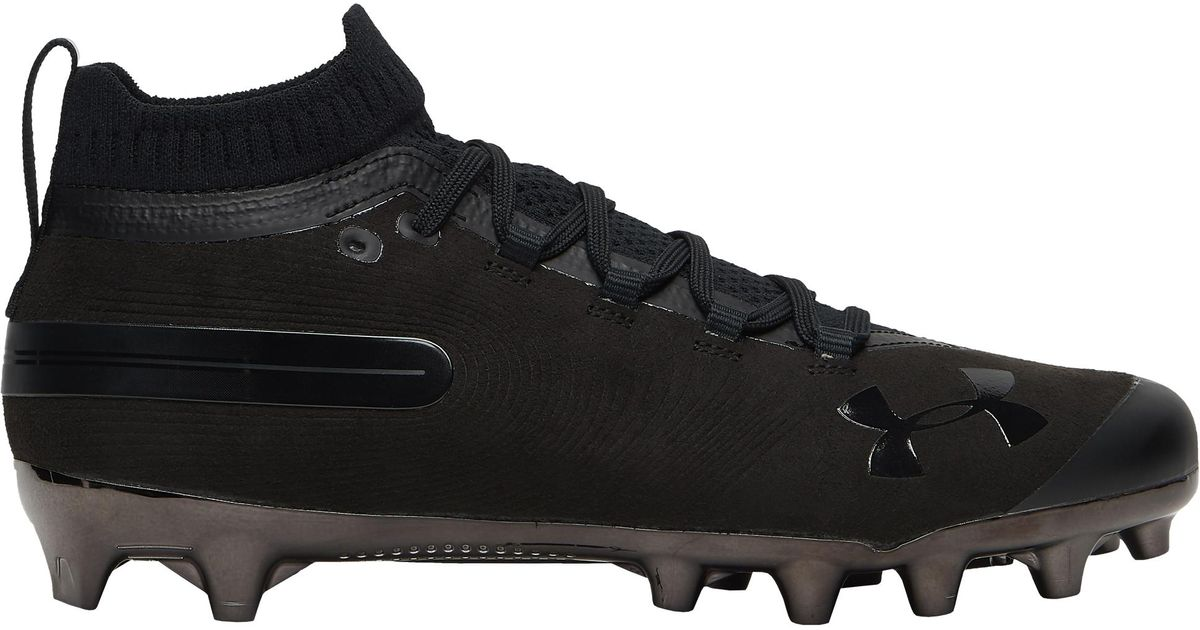 Under Armour Men S Ua Spotlight Suede Mc Football Cleats In Black For Men Lyst