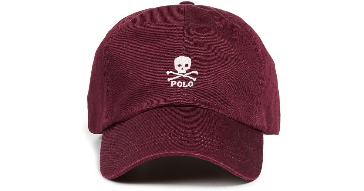 Polo Ralph Lauren Classic Skull Cap in Red for Men - Lyst 3313cd96c53
