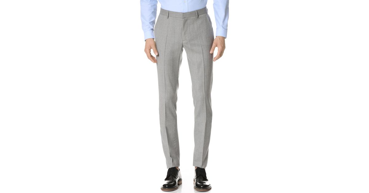 Calvin klein Exact Trousers in Gray for Men | Lyst