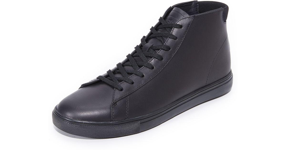 CLAE Bradley Mid Leather Sneakers in