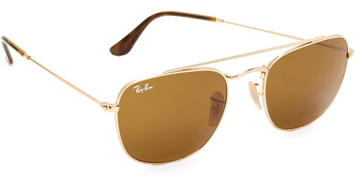2e29299a983 Lyst - Ray-Ban Rounded Caravan Sunglasses in Brown for Men
