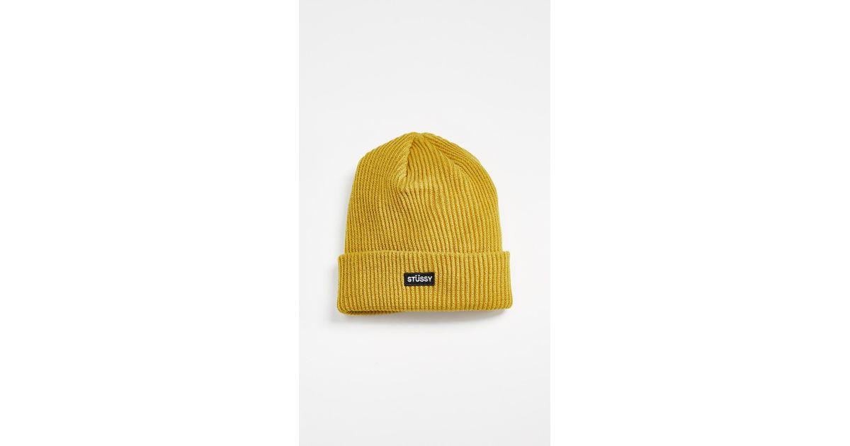 24a677594 Stussy Yellow Small Patch Watch Beanie for men