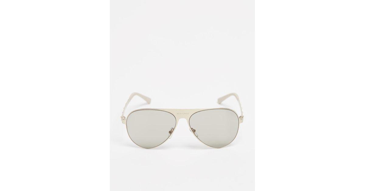 ad734c95ec2 Lyst - Versace Medusina Pilot Sunglasses for Men