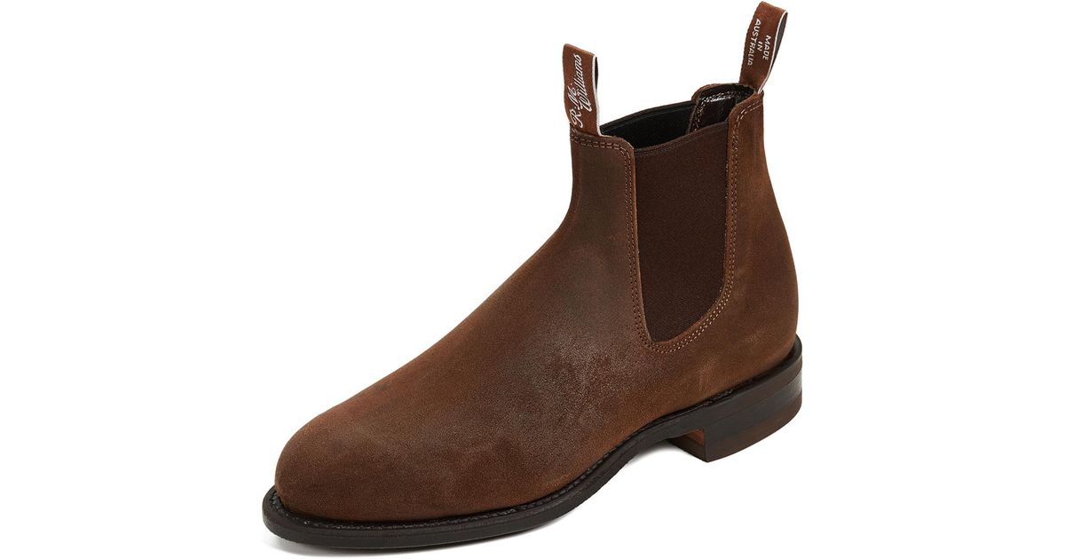 a4b8d1e7564c R.M. Williams Flat Heel Boots in Brown for Men - Lyst
