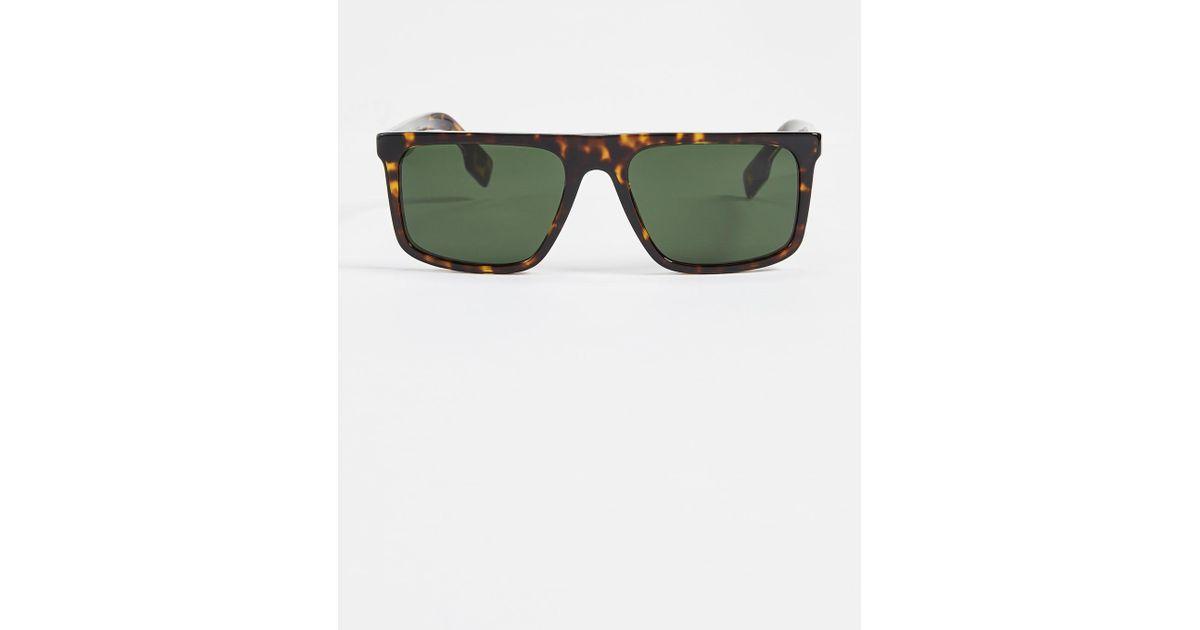 dd41d5f22f2 Lyst - Burberry Flat Top Sunglasses in Green for Men