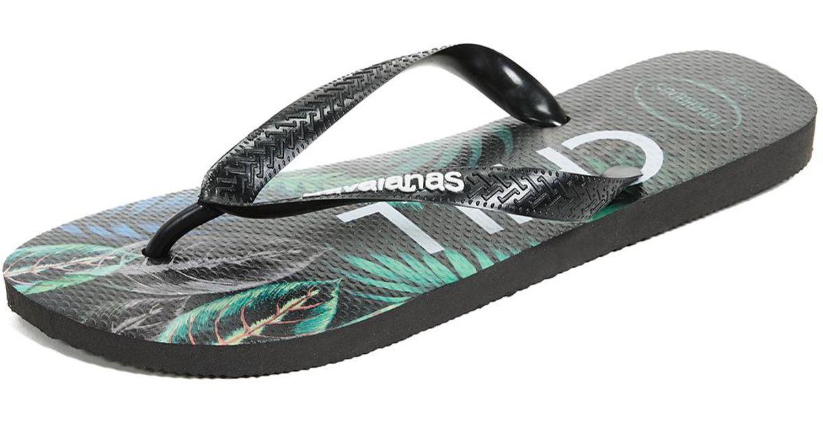 Lyst - Havaianas Top Tropical Sandals in Black for Men ca0899426