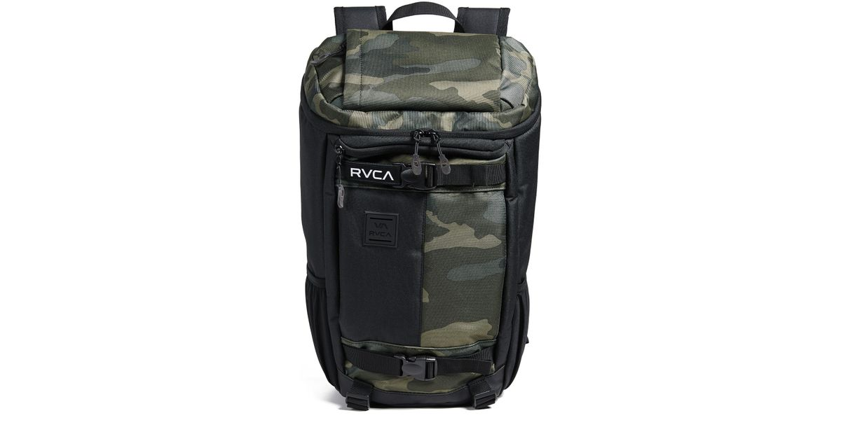 Lyst - RVCA Voyage Skate Commuter Backpack in Black for Men 59aaf93b4a9aa