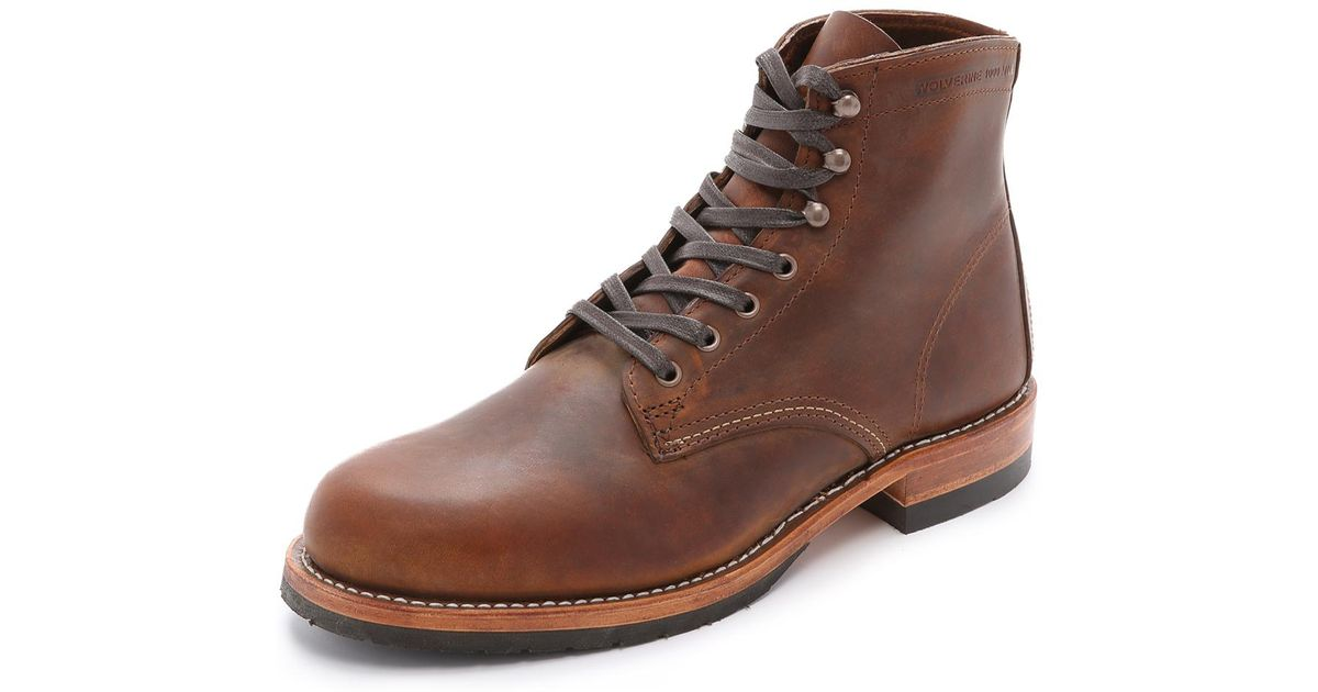 Wolverine Leather Evans Boots In Brown For Men Lyst
