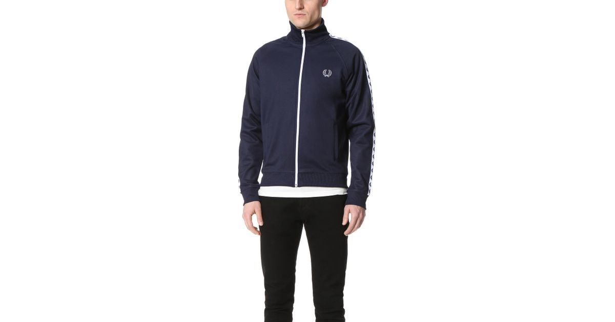 309f98f23 Fred Perry Laurel Wreath Tape Track Jacket in Black for Men - Lyst