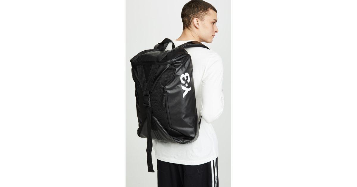 8a2379d22c85 Lyst - Y-3 Base Backpack in Black for Men