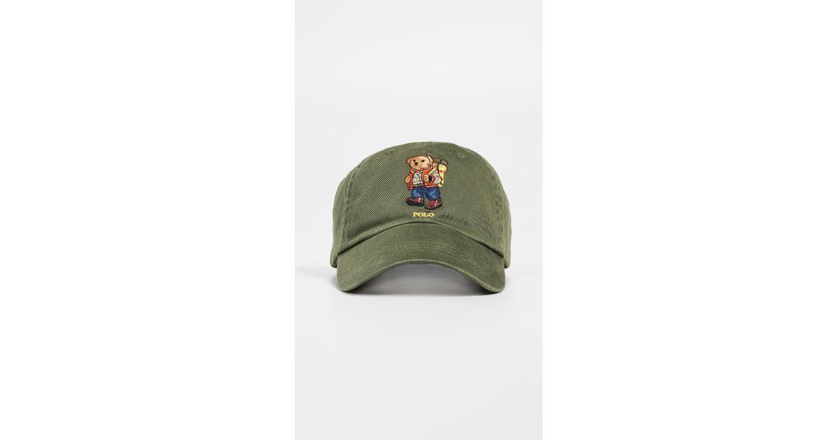 3ac018876 Polo Ralph Lauren Green Hiking Bear Cap for men