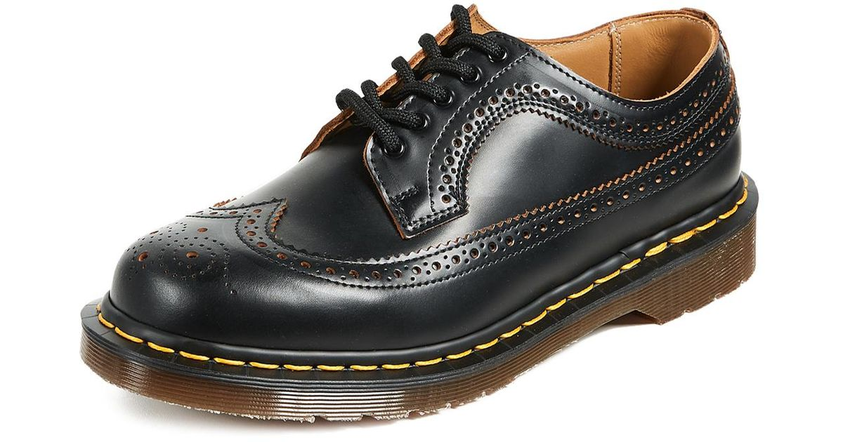 07f4201cadd41 Dr. Martens Made In England Vintage 3989 Brogue Lace Up in Black for Men -  Lyst