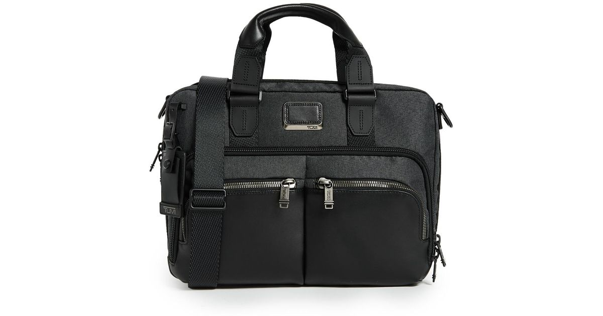 Lyst - Tumi Albany Slim Commuter Briefcase in Black for Men 9b6a4bb603