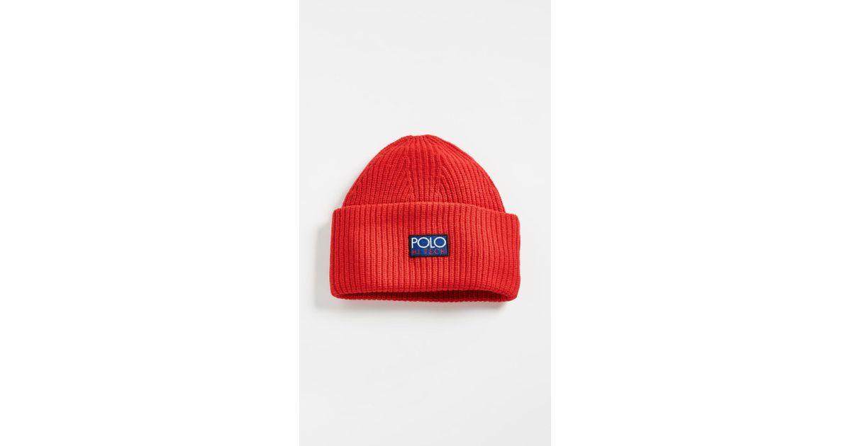 Polo Ralph Lauren Hi Tech Beanie in Red for Men - Lyst d4d338a47fb
