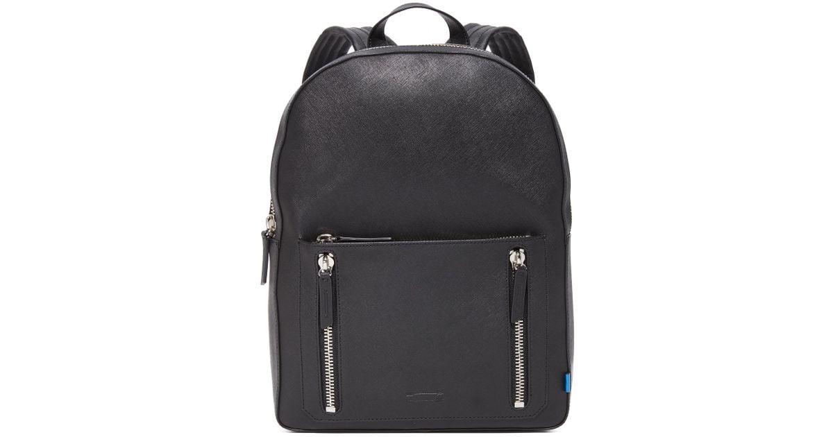 6f36b63d7e Uri Minkoff Black Bondi Saffiano Leather Backpack for men