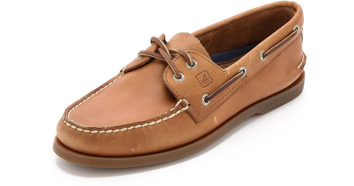2dc1affdd Sperry Top-Sider A o Classic Boat Shoes On Brown Sole in Brown for Men -  Lyst