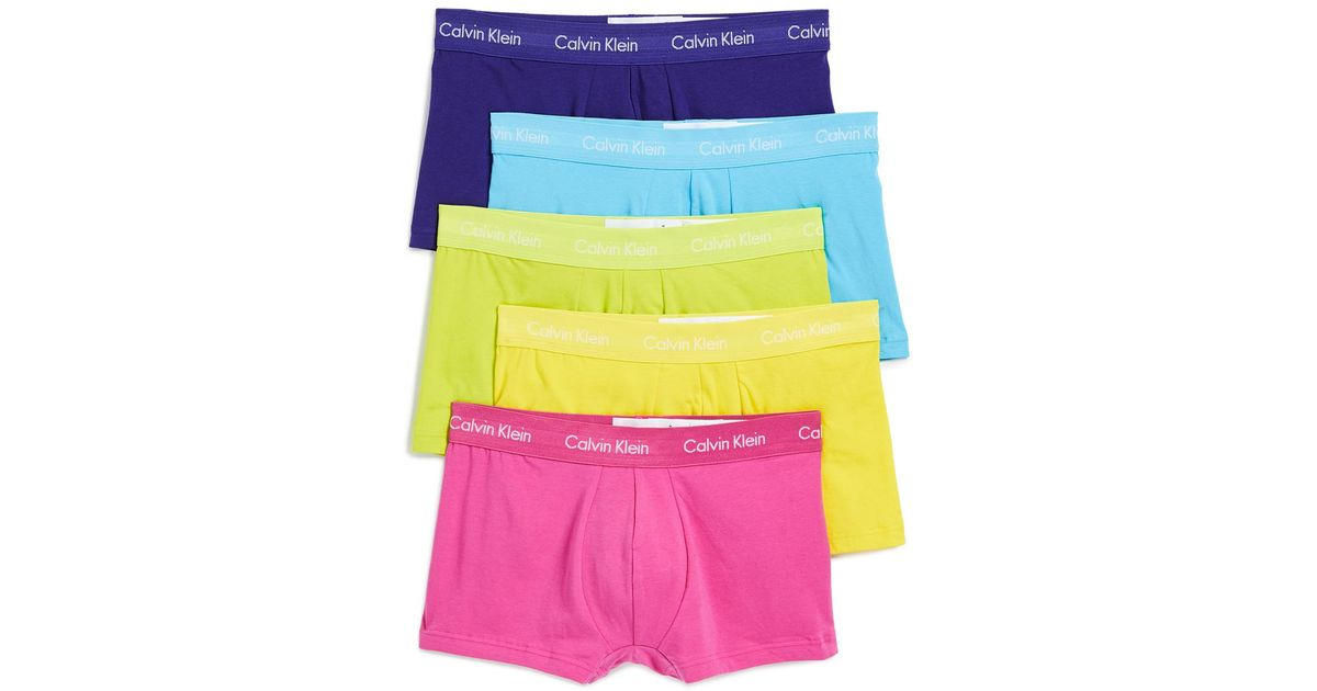 60005ab138f70a Calvin Klein Pride Pack Low Rise Trunks for Men - Lyst
