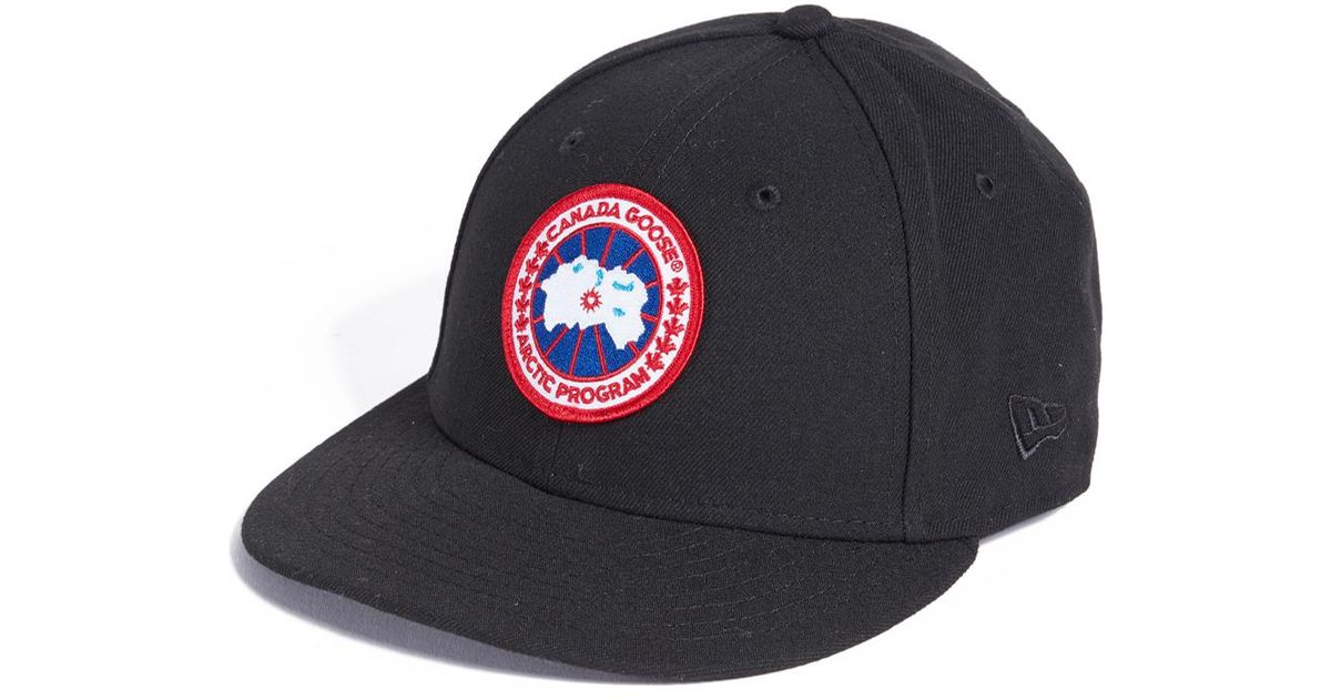 df85f3e49 ... coupon code for lyst canada goose x new era cap in black for men 2aa68  9a318