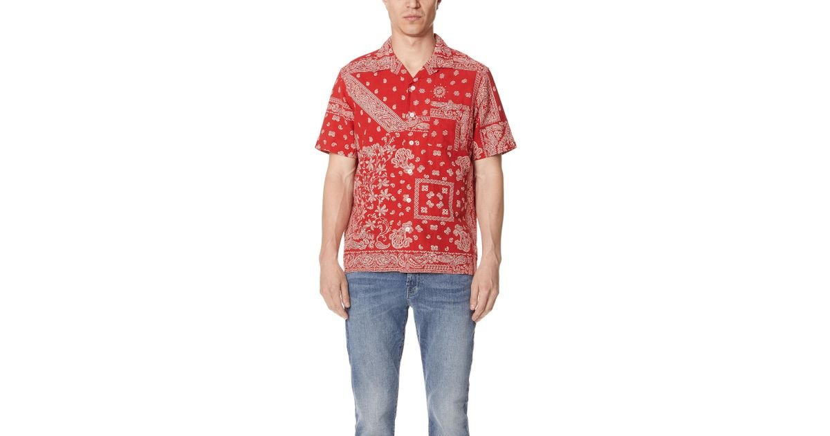 8be76681f Polo Ralph Lauren Bandana Shirt in Red for Men - Lyst