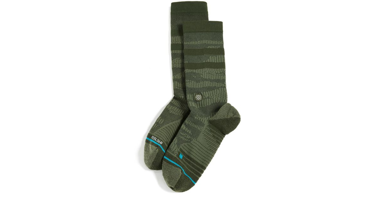 Stance Training Uncommon Solids Crew Crew Socks in Olive