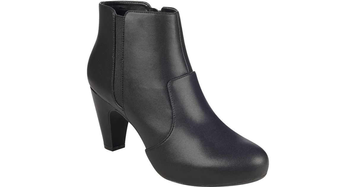 Luis Vuis Women Thick Heels Bootie Pointed Toe Stretch Boots Pull On